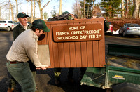 Workers move French Creek Freddie